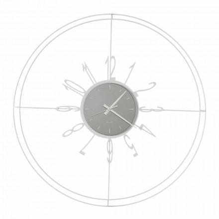 Horloge Murale Ronde en Fer Blanc, Noir ou Bronze Fabriquée en Italie - Boussole