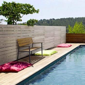 Banc de jardin avec structure en aluminium anthracite, Homemotion - Isotta