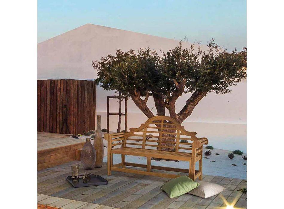 Banc de jardin en bois de teck de conception rustique - Simonia