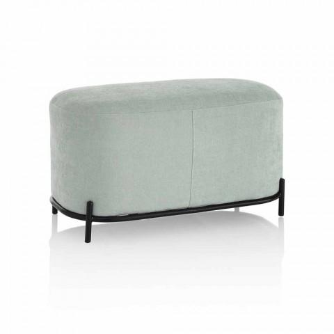 Banc de salon ou de chambre à coucher en tissu design vert menthe - Ambrogia