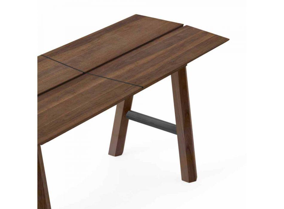 Banc de design moderne en bois de frêne avec assise plaquée - Andria