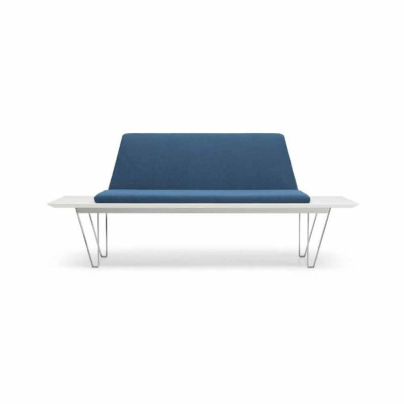 Banc rembourré et rembourré en acier et base en Mdf Design minimaliste moderne - Gardena