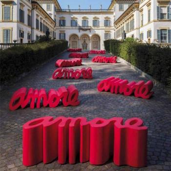Banc design coloré Slide Love moderne fabriqué en Italie