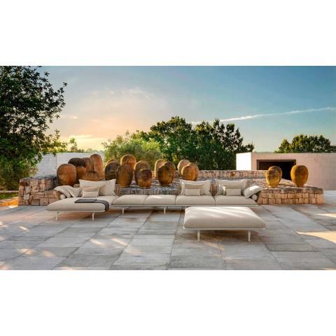 Banc de jardin moderne en aluminium et tissu - Cruise Alu par Talenti