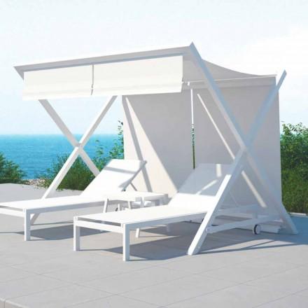 Parasol design extérieur en aluminium et textilène - Danube