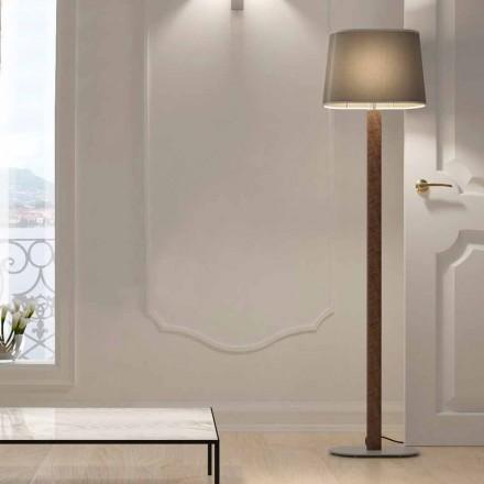 Lampadaire design moderne en métal avec abat-jour en tissu Made in Italy - Jump