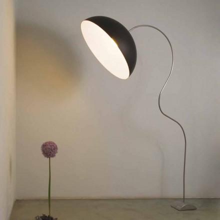 Lampadaire moderne H210cm In-es.artdesign Demi-lune de couleur nébulite