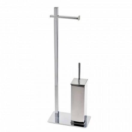 Support en fer de conception moderne pour brosse et rouleau de toilette fabriqué en Italie - Cali