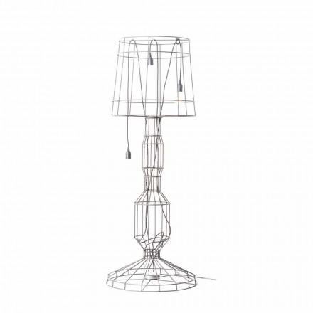 Lampadaire de salon 3 lumières de style minimaliste en métal blanc ou naturel - Style