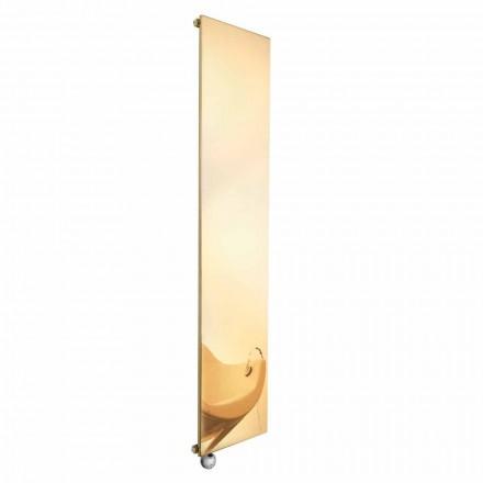 Plaque radiante électrique verticale au design moderne doré jusqu'à 1000 W - Glace