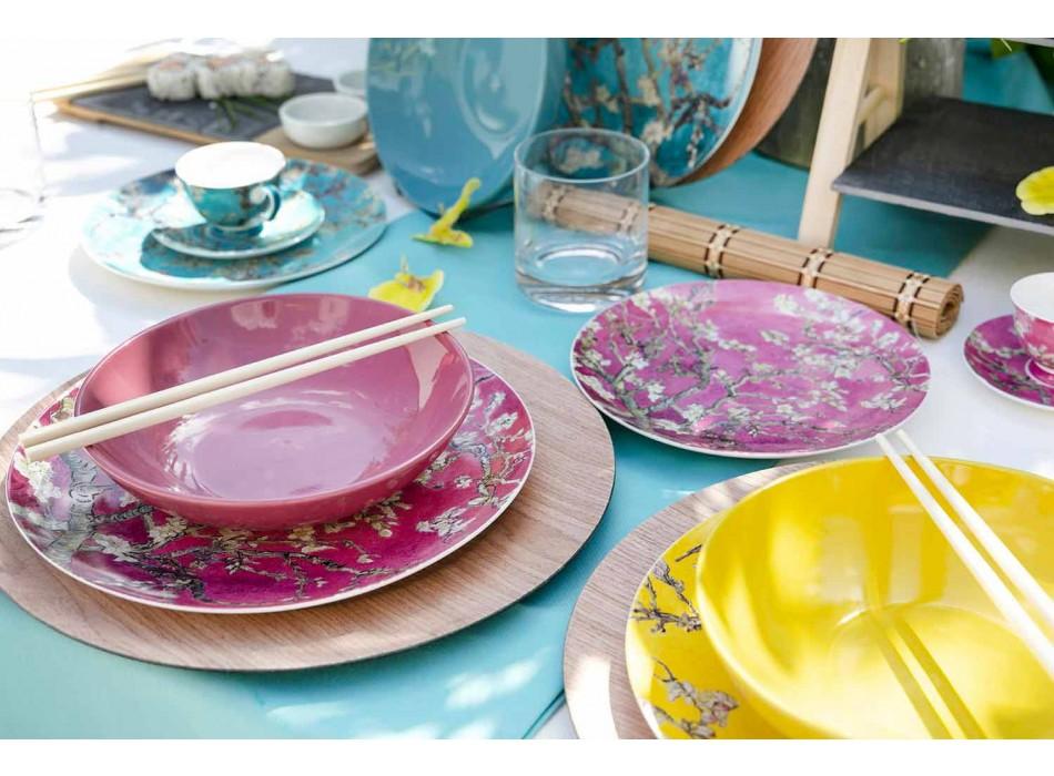 Assiettes En Porcelaine Et Grès Coloré Service De Table Moderne 18 Pièces - Nagoya