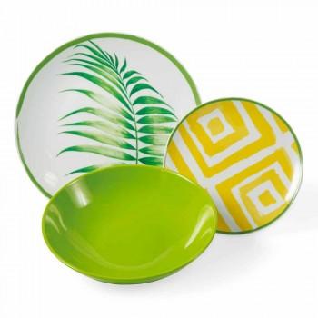 Assiettes Colorées en Porcelaine et Gres Service Moderne Complet 18 Pièces - Albore