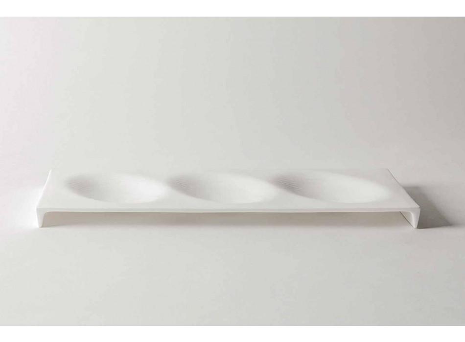 Assiettes de Service Apéritif Design Gourmet en Bone China 9 Pièces - Flavia