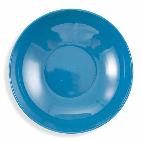 Assiettes Design Colorées en Porcelaine et Service Porcelaine 18 Pièces - Zambie