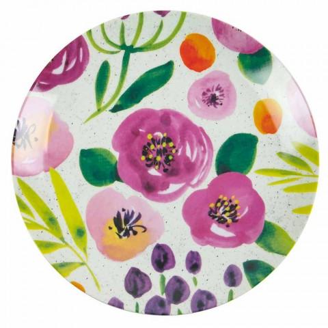 Assiettes de Table Design Colorées en Grès et Porcelaine 18 Pièces - Tintarello