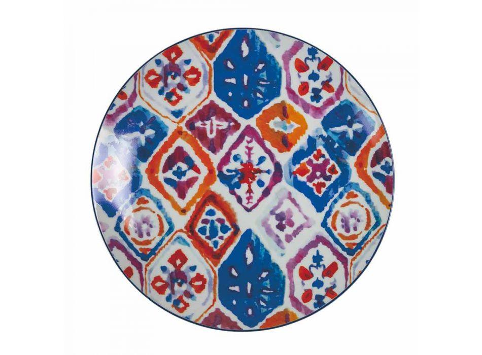 Assiettes de Table Service Complet en Porcelaine et Grès Coloré 18 Pièces - Anfa