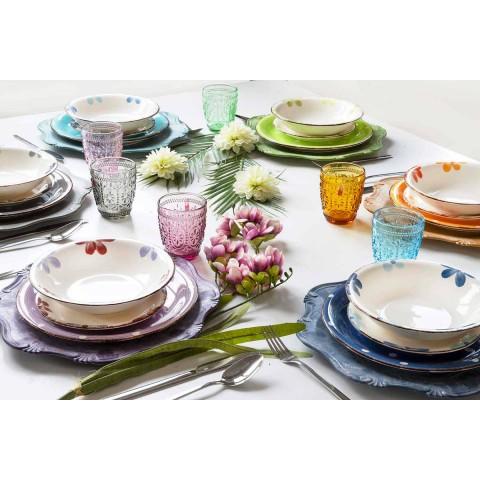 Service de Plaques en Grès Coloré et Moderne 18 Pièces de Table Design - Mita