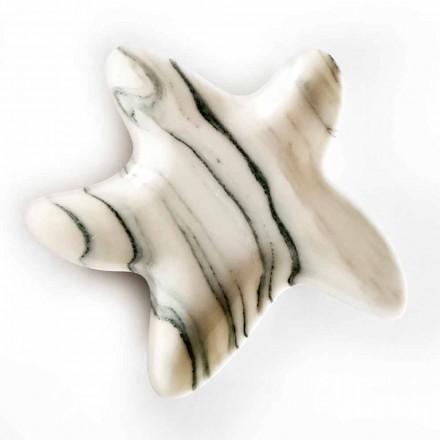 Soucoupe en marbre moderne en forme d'étoile de mer fabriquée en Italie - Ticcio