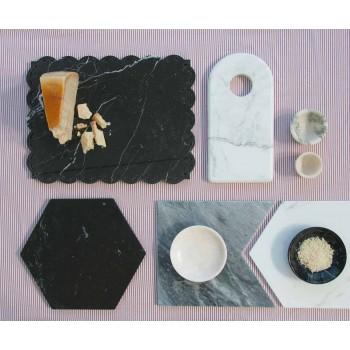 Assiette ronde moderne en marbre de différentes couleurs Made in Italy - Pin