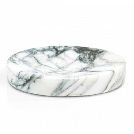 Porte-savon de salle de bain en marbre Paonazzo Modern Made in Italy - Argos