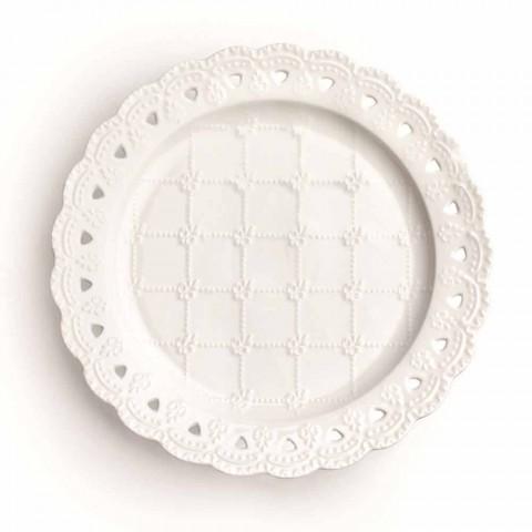 Assiette Faveur 12 Pièces en Porcelaine Blanche Décoré à la Main - Rafiki
