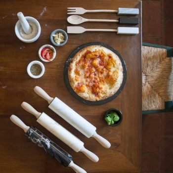 Assiette à Fromage Ronde en Marbre Blanc ou Noir Fabriqué en Italie - Kirby