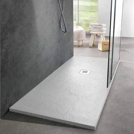 Receveur de douche au design moderne 160x80 en résine effet ardoise - Sommo