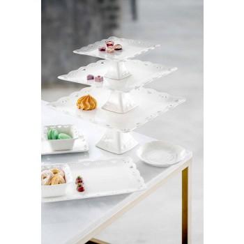 Assiette en porcelaine élégante décorée à la main de 12 pièces - Rafiki