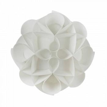 3 lampes de plafond faites en blanc nacré Italie, diamètre 51 cm, Lena