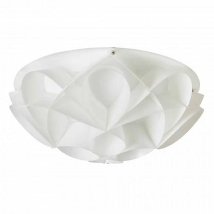 Plafonnier 3 lumière produit en Italie blanc perle diamètre 51cm Lena
