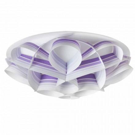 Plafonnier 4 lumière design moderne produit Italie, diam. 70Cm, Lena
