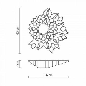 Plafonnier Applique en Technopolymère Design Blanc ou Or 2 Tailles - Cathédrale