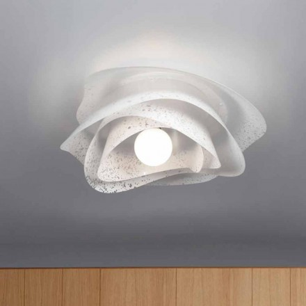 Plafonnier blanc design moderne diamètre 55cm, Adalia produit italien