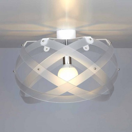 Plafonnier en méthacrylate design moderne, diamètre 40cm, Vanna