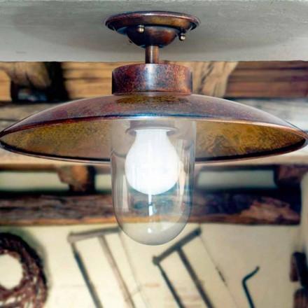 Plafonnier moderne en laiton, cuivre et verre Nabucco