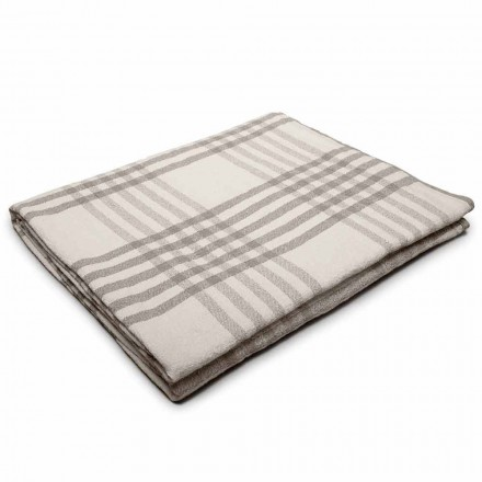 Plaid Double Lin Froissé Blanc ou Naturel Made in Italy – Portree
