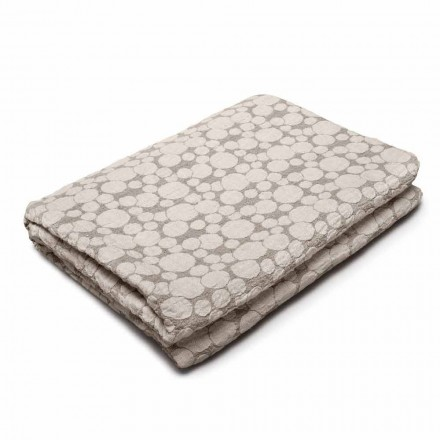 Plaid pour Canapé ou Lit en Lin Blanc et Naturel Made in Italy – Adelina