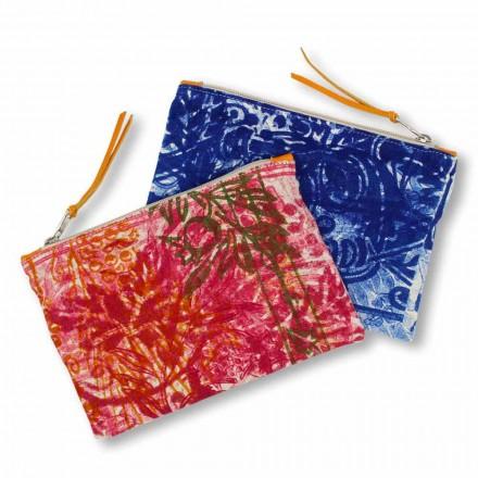 Pochette une pièce en coton imprimée à la main, 2 pièces - Viadurini by Marchi
