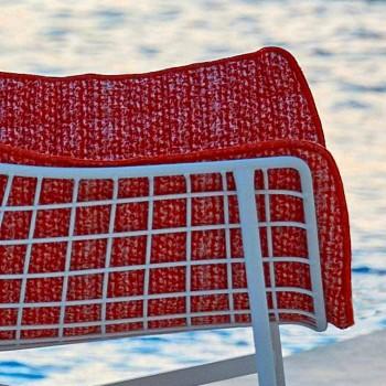 Varaschin Summer Set fauteuil de jardin à bascule en acier et bois