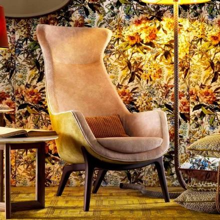 Fauteuil bergère en tissu de design Grilli Wilde made in Italy