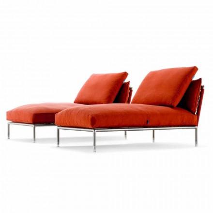 Fauteuil Chaise Longue Design Moderne pour Jardin Fabriqué en Italie - Ontario1