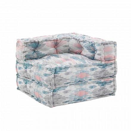Fauteuil Chaise Longue intérieur ou extérieur en tissu déperlant - Shamo