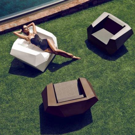 Fauteuil d'extérieur au design moderne, en polyéthylène, Faz by Vondom