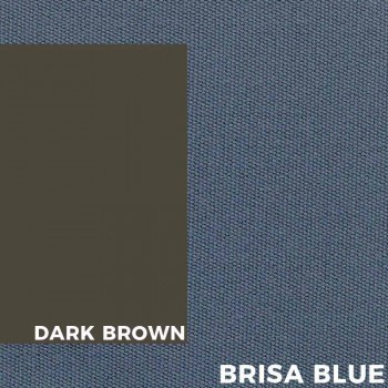 Chaise de jardin en aluminium brun et coussin en tissu bleu - Louisiana2