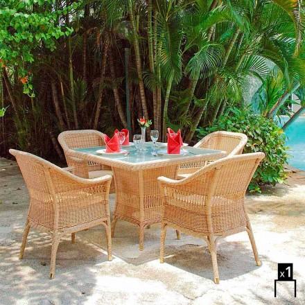 Fauteuil de jardin Chad tressé à la main, de design moderne