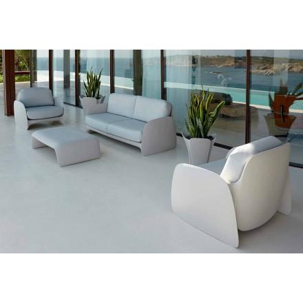 Fauteuil de jardin de design moderne en polyéthylène, Pezzettina by Vondom