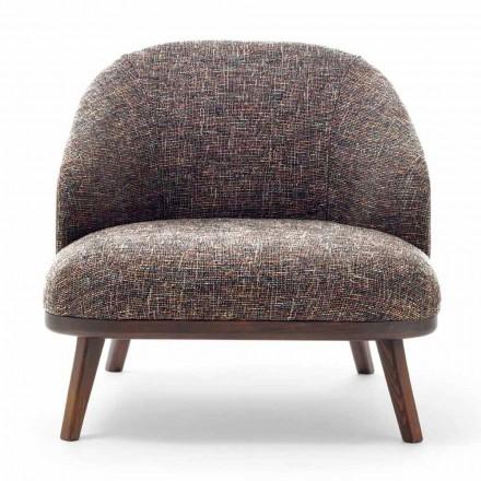 Chaise longue en tissu avec base en bois massif Made in Italy - Pepina