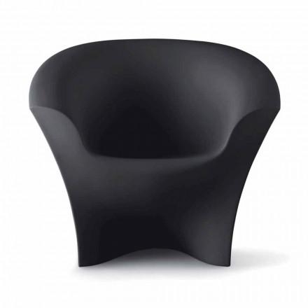 Fauteuil design d'extérieur en polyéthylène mat ou laqué Made in Italy - Conda