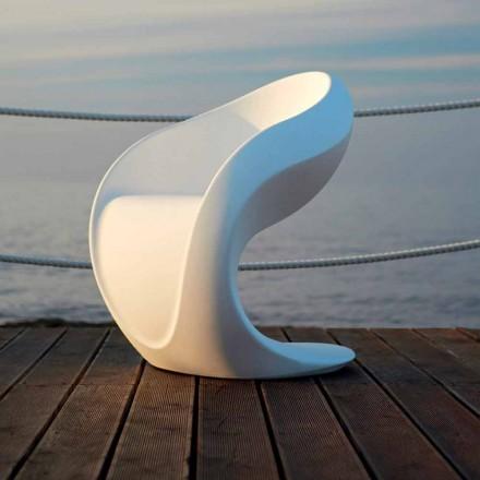 Fauteuil design intérieur ou extérieur en polyéthylène blanc - Petra by Myyour