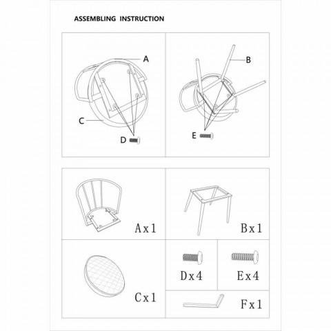 Fauteuil design de style industriel en fer et similicuir - Pinny
